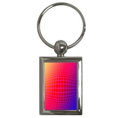 Grid Diamonds Figure Abstract Key Chains (Rectangle)