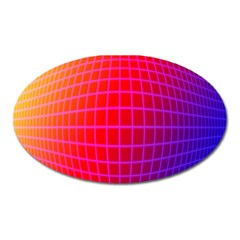Grid Diamonds Figure Abstract Oval Magnet