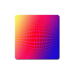 Grid Diamonds Figure Abstract Square Magnet
