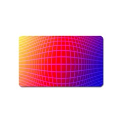 Grid Diamonds Figure Abstract Magnet (Name Card)