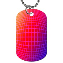 Grid Diamonds Figure Abstract Dog Tag (One Side)