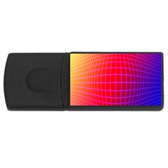 Grid Diamonds Figure Abstract USB Flash Drive Rectangular (2 GB)