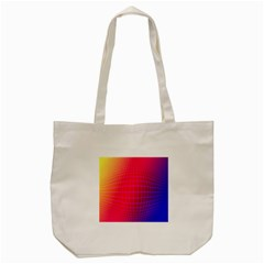 Grid Diamonds Figure Abstract Tote Bag (Cream)
