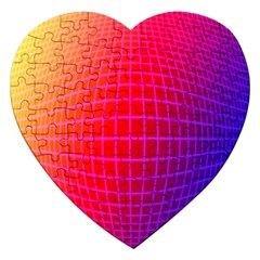 Grid Diamonds Figure Abstract Jigsaw Puzzle (Heart)