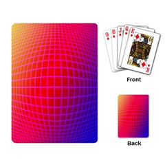 Grid Diamonds Figure Abstract Playing Card