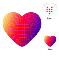 Grid Diamonds Figure Abstract Playing Cards (Heart)