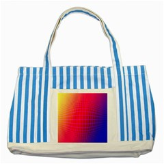 Grid Diamonds Figure Abstract Striped Blue Tote Bag