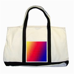 Grid Diamonds Figure Abstract Two Tone Tote Bag