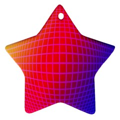 Grid Diamonds Figure Abstract Star Ornament (Two Sides)