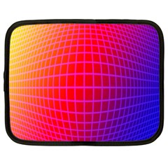 Grid Diamonds Figure Abstract Netbook Case (Large)