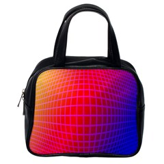 Grid Diamonds Figure Abstract Classic Handbags (One Side)
