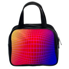 Grid Diamonds Figure Abstract Classic Handbags (2 Sides)