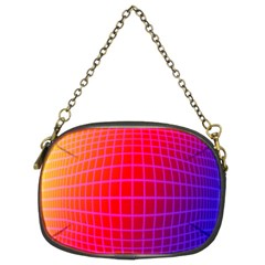 Grid Diamonds Figure Abstract Chain Purses (Two Sides)