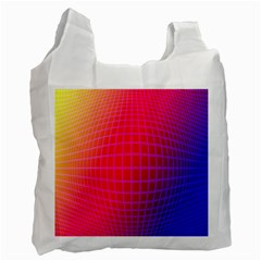 Grid Diamonds Figure Abstract Recycle Bag (Two Side)