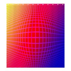 Grid Diamonds Figure Abstract Shower Curtain 66  x 72  (Large)