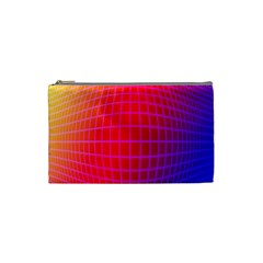 Grid Diamonds Figure Abstract Cosmetic Bag (Small)