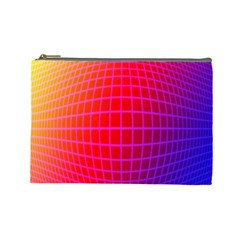 Grid Diamonds Figure Abstract Cosmetic Bag (Large)