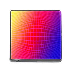Grid Diamonds Figure Abstract Memory Card Reader (Square)