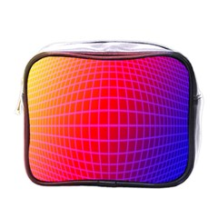 Grid Diamonds Figure Abstract Mini Toiletries Bags