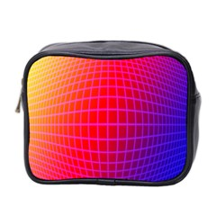 Grid Diamonds Figure Abstract Mini Toiletries Bag 2-Side