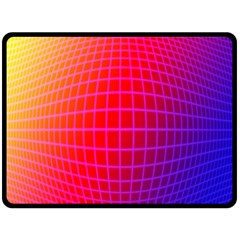 Grid Diamonds Figure Abstract Fleece Blanket (Large)