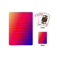 Grid Diamonds Figure Abstract Playing Cards (Mini)