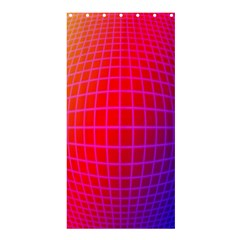Grid Diamonds Figure Abstract Shower Curtain 36  x 72  (Stall)