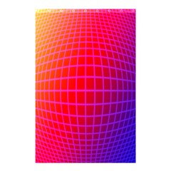 Grid Diamonds Figure Abstract Shower Curtain 48  x 72  (Small)