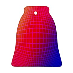 Grid Diamonds Figure Abstract Bell Ornament (2 Sides)