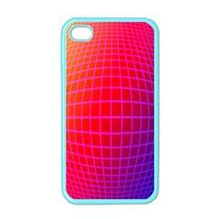 Grid Diamonds Figure Abstract Apple iPhone 4 Case (Color)