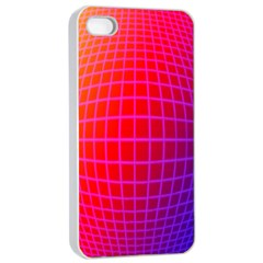 Grid Diamonds Figure Abstract Apple iPhone 4/4s Seamless Case (White)