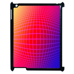 Grid Diamonds Figure Abstract Apple iPad 2 Case (Black)
