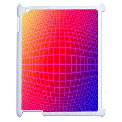 Grid Diamonds Figure Abstract Apple iPad 2 Case (White)