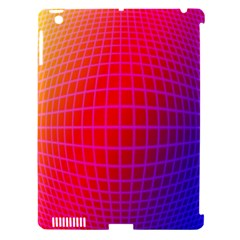 Grid Diamonds Figure Abstract Apple iPad 3/4 Hardshell Case (Compatible with Smart Cover)