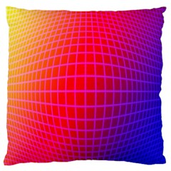 Grid Diamonds Figure Abstract Large Cushion Case (One Side)