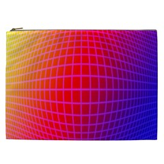 Grid Diamonds Figure Abstract Cosmetic Bag (XXL)