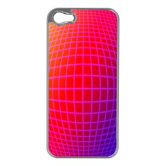 Grid Diamonds Figure Abstract Apple iPhone 5 Case (Silver)