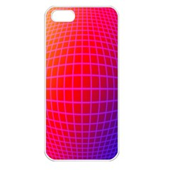 Grid Diamonds Figure Abstract Apple iPhone 5 Seamless Case (White)
