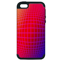 Grid Diamonds Figure Abstract Apple iPhone 5 Hardshell Case (PC+Silicone)