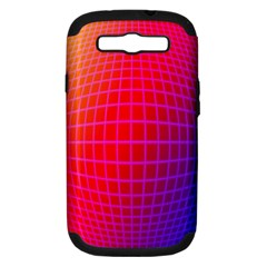 Grid Diamonds Figure Abstract Samsung Galaxy S III Hardshell Case (PC+Silicone)