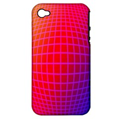 Grid Diamonds Figure Abstract Apple iPhone 4/4S Hardshell Case (PC+Silicone)