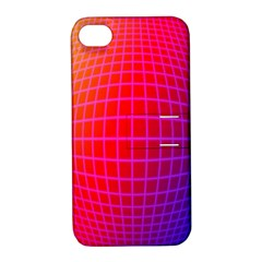 Grid Diamonds Figure Abstract Apple iPhone 4/4S Hardshell Case with Stand