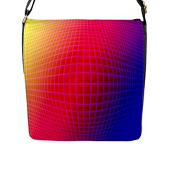 Grid Diamonds Figure Abstract Flap Messenger Bag (L)