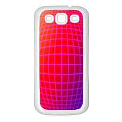 Grid Diamonds Figure Abstract Samsung Galaxy S3 Back Case (White)
