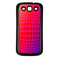 Grid Diamonds Figure Abstract Samsung Galaxy S3 Back Case (Black)