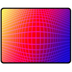 Grid Diamonds Figure Abstract Double Sided Fleece Blanket (Medium)