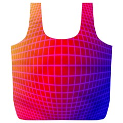 Grid Diamonds Figure Abstract Full Print Recycle Bags (L)