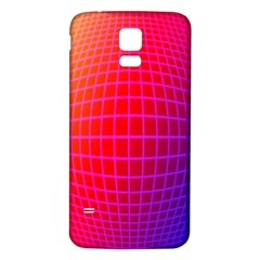 Grid Diamonds Figure Abstract Samsung Galaxy S5 Back Case (White)