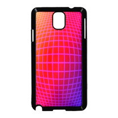 Grid Diamonds Figure Abstract Samsung Galaxy Note 3 Neo Hardshell Case (Black)