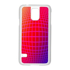 Grid Diamonds Figure Abstract Samsung Galaxy S5 Case (White)